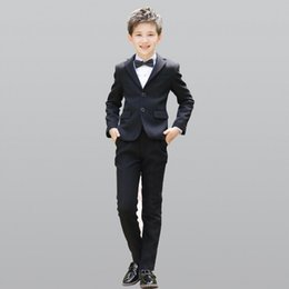 685ad8ee5 2019 Fashion Upscale Boy Kid 5pcs set Gentleman Clothing Tops Shirt leisure  clothing sets Suit formal clothes Blazers Suits