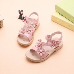 mini melissa shoes wholesale Australia - Summer Kids Shoes Toddler Girl Shoes Bohemian Casual Flower Sandalias Girls Princess Flat Girls Sneakers Mini Melissa