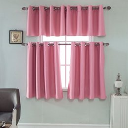 metal drapes Australia - Top Sell Valance Panel Drape Shading Short Curtains Solid Color Bedroom Half-curtain Blackout Valance for Home Balcony