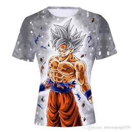 Naruto Prints Shirts Australia - Dragon Ball Z Naruto 4th Hokage T-shirts Mens Summer 3D Print Super Saiyan Son Goku Black Zamasu Vegeta Vegetto T Shirt Tee Tops