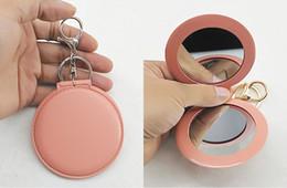 $enCountryForm.capitalKeyWord Australia - Free DHL Small Cute Folding Double-Sided Makeup Mirror Car Keychains Purse Keychais Backpack Keychain Ornaments Keyring G786R Y