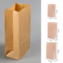 diy bag kraft NZ - 10pcs pack Kraft Paper Bag Brown Party Wedding Favors Bread Cookies Gift Bags 18*9*6cm DIY Wedding Party Favour Supplies C18112701