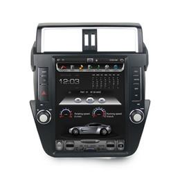 "Car Bluetooth Stereo Transmitter Australia - 12.1"" Tesla style Screen Android 7.1 Car DVD Stereo Radio GPS for Toyota Prado 150 LC150 2014 2015 2016 2017 Bluetooth WIFI 32GB ROM"