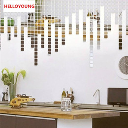 $enCountryForm.capitalKeyWord NZ - Creative Box Mirror 100 pcs Wall Stickers Bathroom Home Decor Acrylic Mirrored Decorative Sticker Wall decor