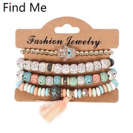 $enCountryForm.capitalKeyWord NZ - Find Me 2019 new Fashion Vintage Ethnic multilayer big beads Bracelets Boho Statement Flower Bangles Bracelets for Women Jewelry