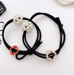 Holiday Hair Australia - New hot high quality hair ring hair rope four-leaf clover pearl accessories hair accessories ladies holiday gift accessories