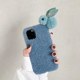 lovely rabbit phone case NZ - One Piece luxury phone case For iPhone 6 7 8Plus XS 11PROMAX fashion lovely little plush rabbit Designer phone case back cover