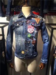 $enCountryForm.capitalKeyWord Australia - 19ss new high quality classic blue denim jacket, washed letter coat, motorcycle jacket, casual fashion simple multi-functional motorcycle me