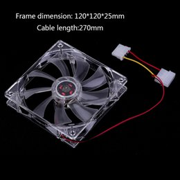 $enCountryForm.capitalKeyWord Australia - Computer Fan Sleeve Bearing Technology Fans 4 LED Blue for Computer PC Case Cooling 120MM Transparent Drop Shipping