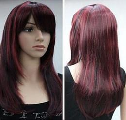 "$enCountryForm.capitalKeyWord Australia - Wig women""s red black mix long straight cosplay full wig Free Shipping"