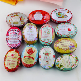 Tin Box Printed Australia - 24 Pieces lot Vintage Flower Printing Mini Tin Box For Jewelry Wedding Favor Candy Decorative Storage Boxes Cute Coins Case