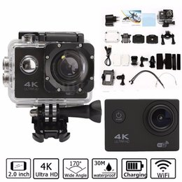 Outdoor Professional Sporting Camcorder Australia - Waterproof 2.0'' LCD H9 4K Ultra HD Video Camera FHD 1080P 170 Degree WiFi Sports DV Action Camcorder Sport Outdoor Travelers