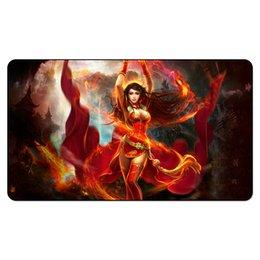 Queen Games Australia - Magic Board Game Playmat:Vanja Fire Giant Queen 2.60*35cm size Table Mat Mousepad Play Mat