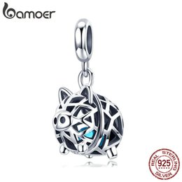 $enCountryForm.capitalKeyWord Australia - wholesale New Collection 925 Sterling Silver Crystal Pig Animal Pendant Charms Fit Women Bracelets Necklaces DIY Jewelry SCC1006