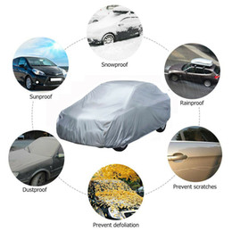 $enCountryForm.capitalKeyWord Australia - DHL 10pcs Universal Full Car Body Covers Snow Ice Dust Sun UV Shade Cover Light Silver Auto Car Outdoor Indoor Protector Covers