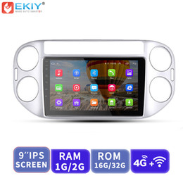 Vw Stereos Android Australia - EKIY 9'' IPS Android Car Multimedia Player GPS Navigation Auto Radio Stereo For Volkswagen VW Tiguan 2010-2015 With 4G Modem