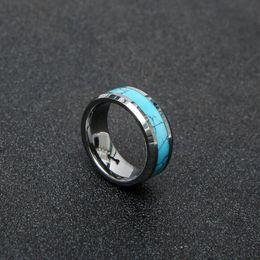 $enCountryForm.capitalKeyWord Australia - Hot style accessories 8mm tungsten steel ring set turquoise fashion men and women tungsten gold bracelet wholesale