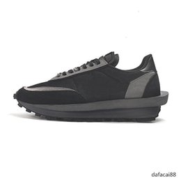 green lace man shoes Australia - Cheap luxury designer Sacai LDV Waffle running shoes men women LDWaffle Black White pine Green Gusto Varsity Blue M mens trainers sneakers