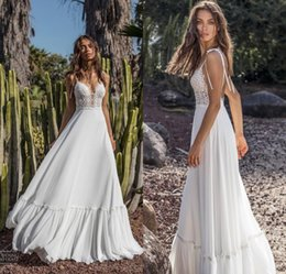 dd8c1480970 Fairy dress chiFFon online shopping - Asaf Dadush Flowy Chiffon Beach  Wedding Dresses Sleeveless Spaghetti Straps