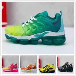 Kids floral shoes online shopping - 2018 Chaussures New Kids Tn Plus Running Shoes Infant big boys girls Camo Black White Sports Sneakers Run plus TN Designer Shoes