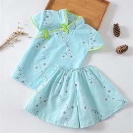 Boy Chinese Suit Australia - good qulaity baby girl clothing Chinese style toddler cotton clothing set 2pcs new little girl fashion baby outfits cloths suit