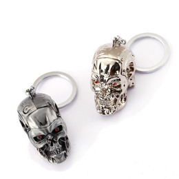Chinese  The Terminator Key Chain 3D T-1000 Skull Key Rings For Gift Chaveiro Car Keychain Jewelry Movie Key Holder Souvenir YS11520 manufacturers