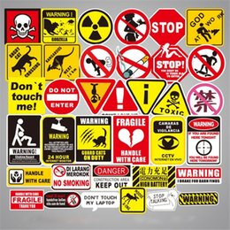 Decoration Laptop Australia - 50 Pcs Set Sign Decal Car Stickers Logo And Warning For Luggage Laptop Car-styling Motocycle Car Accessories