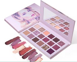 18 eye shadows NZ - UCANBE Aromas Nude Aromas eye shadow palette 18 Color glitter matte eye makeup waterproof eye shadow