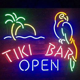 "$enCountryForm.capitalKeyWord Australia - 17""x14"" Tiki Bar OPEN Parrot Palm Tree MAN CAVE BEER BAR PUB WALL DECOR LAMP ADVERTISING NEON LIGHT SIGN"