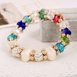 Crystal For Sales Australia - Hot Sale Designer Jewelry Vintage Charm Korean Designer Fashion Crystal Bracelets Jewelry Sets Vintage Party Designer Bracelets For Women