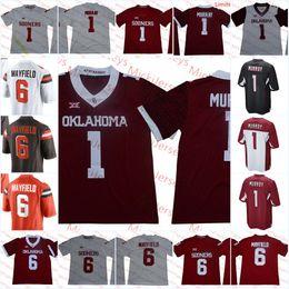 Cleveland Jerseys Canada - Mens NCAA Oklahoma Sooners Kyler Murray Football Jersey Stitched #1 Kyler Murray Arizona #6 Baker Mayfield Cleveland Jersey S-3X