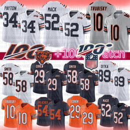 Hombres Chicago 52 Khalil Mack Bears Jersey 34 Walter Payton 10 Mitchell Trubisky 29 Tarik Cohen Mike Butkus Ditka Smith Urlacher Hicks Jackson on Sale