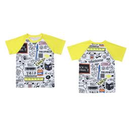 $enCountryForm.capitalKeyWord NZ - Kids Geometric Raglan T-Shirts Cartoon Apple Printed Casual Sports Short Sleeve Tops Back To School Kids Designer Clothes Girls Boy Clothing