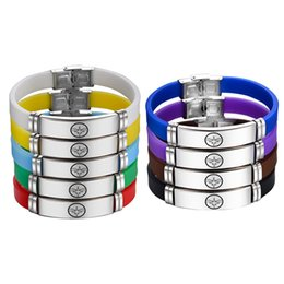 Dark Pink Bracelet NZ - Canuomen Captain Marvel Bracelet 9 Colors Superhero Logo Stainless Steel Bracelets Gifts for Boys Silicone Bracelet Jewelry C2