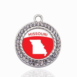 $enCountryForm.capitalKeyWord Australia - Missouri Outline Circle Charm Copper Pendant For Necklace Bracelet Connector Women Gift Jewelry Accessories