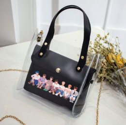 best white bags Canada - 2019 Free Shipping Stock in The Best Hot Sales Highly Complement of Internet Celebrity Fresh Girl Transparent Plastic Crossbody Shoulder Bag