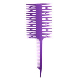 Hair dye comb online shopping - Sectioning Hairdressing For Hair Dye Plastic Double sided Hair Coloring Straight Teeth Styling Tools Comb