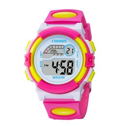 kids digital sports watch Australia - Waterproof Design Kids Watch Cute Pink Girl Digital Sports Led Watch Date Alarm Week Show Electronic Children Clock reloj