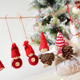 $enCountryForm.capitalKeyWord Australia - Christmas Decoration Pendants toy Outside Xmas Tree Hanging Ornament Santa Claus Snowman bear Doll for Home Deocr Kids Gift Neol
