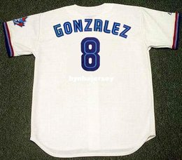 5e6cc0f9646 Cheap Custom ALEX GONZALEZ Toronto Stitched 1997 Majestic Vintage Home  Baseball Jersey Retro Mens Jerseys Running