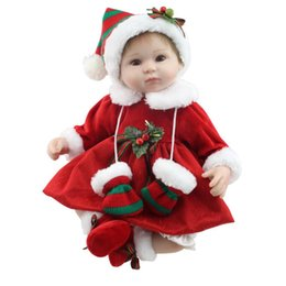 Npk silicoNe dolls online shopping - 42cm NPK Lovely Simulation Baby Toy High Grade Soft Silicone Lifelike Full Body Newborn Doll Parenting Inafant Doll Toy Xmas gift