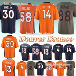 Denver jerseys Bronco 30 Terrell Davis 58 Von Miller 4 Case Keenum 13  Trevor Siemian 14 Courtland Sutton new jersey d3bafdccb
