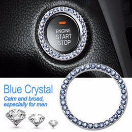 Wholesale car started online – design 2X mm quot Auto Car Bling Decorative Accessories Automobiles Start Switch Button Decorative Diamond Rhinestone Ring Circle Trim