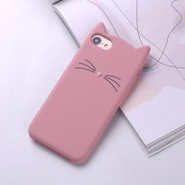 3d cartoon x NZ - For iPhone 6 6S 7 8 Plus X Case 3D Cute Cartoon Animal Cat Ear Silicone Case For iPhone 6S 7 8 Plus Capa