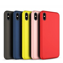 Cellphone siliCone Case Cover online shopping - 360 degrees full cover TPU Phone Case for iPhone x xr xs max slim Original Liquid Silicone feeling cellphone cover for apple s plus