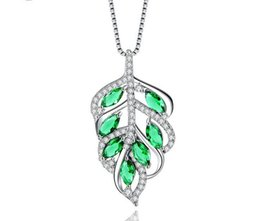 $enCountryForm.capitalKeyWord UK - 925 sterling silver necklace female Korean version of the temperament leaves zircon pendant clavicle chain girls fashion simple accessories