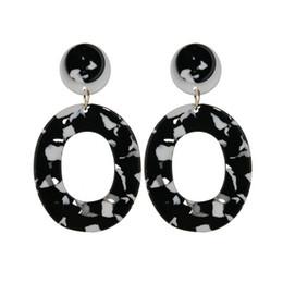 $enCountryForm.capitalKeyWord UK - 2019 New Fashion Pattern Acetate Geometric Earrings Big Circle Acrylic Earrings For Women E2034