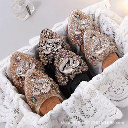 $enCountryForm.capitalKeyWord Australia - Women's Rhinestone Flats Soft Sole Comfortable Pregnant Shoes Female Foldable Boat Ballet Shoes for Bridal Bridesmaid - Fox
