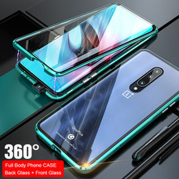 $enCountryForm.capitalKeyWord Australia - wholesale Full Magnetic Phone Case For Oneplus 7 Pro Aluminum Metal Frame Cover Bumper Double Sided Glass Case For Oneplus 7 Pro 1+7