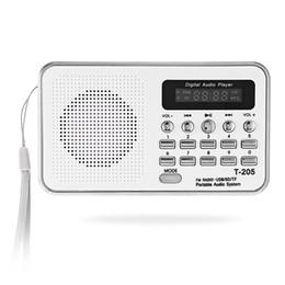 Altoparlante portatile Mini FM Radio HiFi Card Digitale stereo multimediale MP3 Lettore musicale Camping Hiki Sport T-205 Spedizione gratuita BA in Offerta
